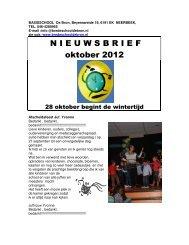 N I E U W S B R I E F  oktober 2012 - Basisschool De Brede School ...