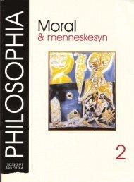 Ndgra sidor om moralens villkor