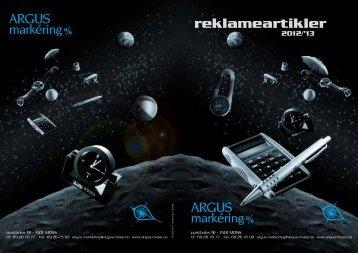 reklameartikler 2012/'13 - Argus Markering AS