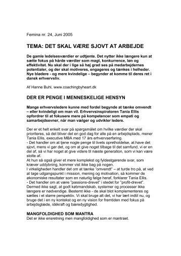 TEMA: DET SKAL VÆRE SJOVT AT ARBEJDE - Tania Ellis