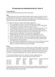 Et eksempel på Arbeidskontrakt for Team X