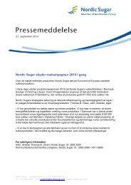 Nordic Sugar skyder roekampagnen 2010 i gang - download ...