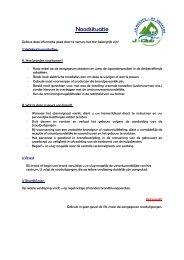 Veiligheidsvoorschriften - Vakantiecentrum J-Club De Knapzak