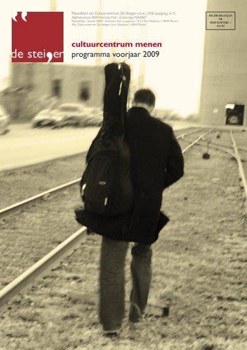 cultuurcentrum menen programma voorjaar 2009