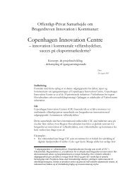 Offentligt-Privat Samarbejde om Brugerdreven Innovation i ... - ICPH