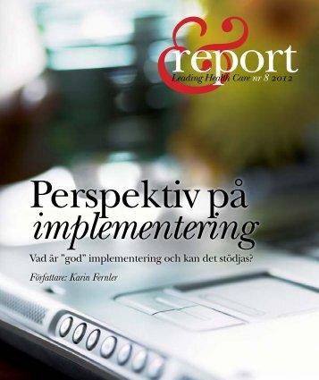 """Vad är """"god"""" implementering och kan det stödjas? Författare: Karin ..."""