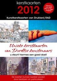 Unieke kerstkaarten van Dordtse kunstenaars - Drukkerij RAD