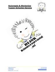 Huisregels Tussen Schoolse Opvang - Blink Kinderopvang BV