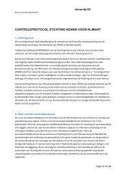 Annex bij SO CONTROLEPROTOCOL STICHTING KENNIS VOOR ...