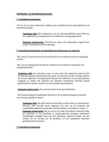 Sterilisatie- en desinfectieprocessen - AZ Jan Portaels