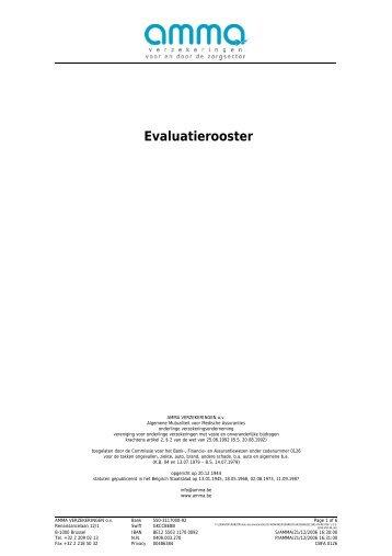 Evaluatierooster - amma verzekeringen
