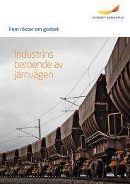 Industrins beroende av järnvägen - Jernkontoret