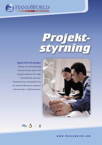 Projekt- styrning - HansaWorld