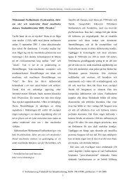 Tidsskrift for Islamforskning - Danske koranstudier, nr. 1 - 2006 ...