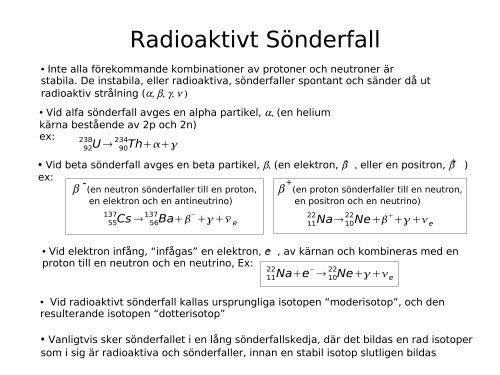 radioaktiva isotoper radio metrisk datering dejta igen efter 30 år