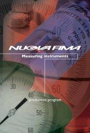 Measuring instruments production program