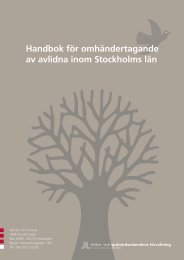 Handbok för omhändertagande av avlidna inom Stockholms län