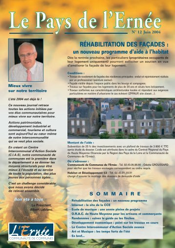 RÉHABILITATION DES FAÇADES : un nouveau programme d'aide ...