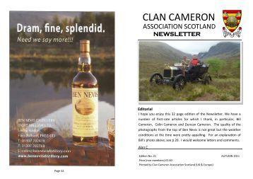 Autumn 11 - The Clan Cameron Association Scotland.