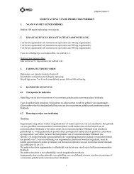 SAMENVATTING VAN DE PRODUCTKENMERKEN 1. NAAM ... - MSD