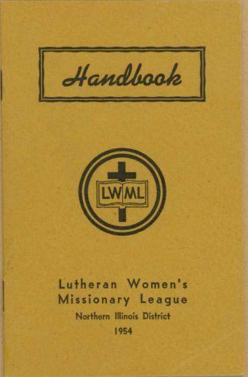 Womens Guild Society Handbook - Trinity Lutheran Church