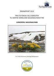Årsrapport Junkerdal nasjonalpark 2012.pdf - Blogg - Statskog