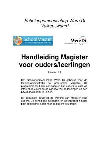 Handleiding Magister voor ouders/leerlingen - Were Di