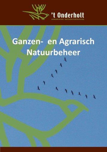 Brochure ganzen- en agrarisch natuurbeheer - Onderholt