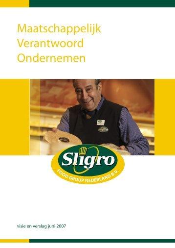 Maatschappelijk Verantwoord Ondernemen - Sligro