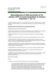 Bekg af IAEA - konventionen af 26 okt 1979 om fysisk beskyttelse af ...