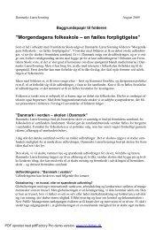 Baggrundspapir - Danmarks Lærerforening
