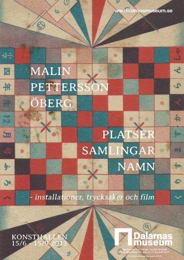 PLATSER SAMLINGAR NAMN MALIN PETTERSSON ÖBERG