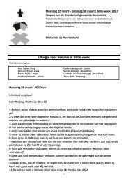 Klik hier voor de liturgie - Noorderkerk Amsterdam