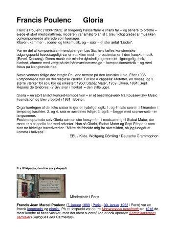 Francis Poulenc Gloria - Aarhus Kammerkor