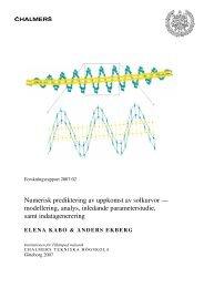 Numerisk prediktering av uppkomst av solkurvor — modellering ...
