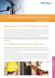 Actieplan elektrische installaties - Securex