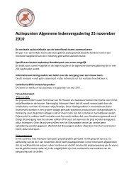 Actiepunten Algemene ledenvergadering 25 november ... - HC Houten