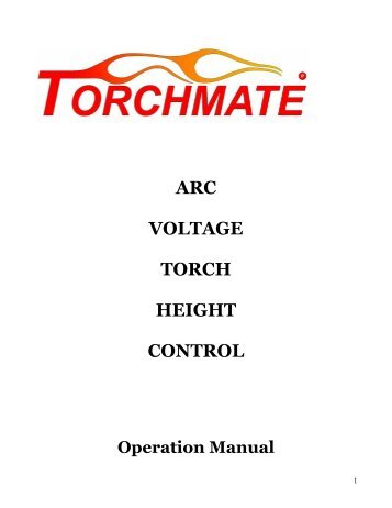Red Screen Height Control Manual - Torchmate Support