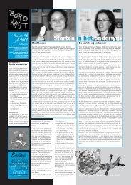 Artikel in BordKrijt - Jenny Wesly Focus Projecten