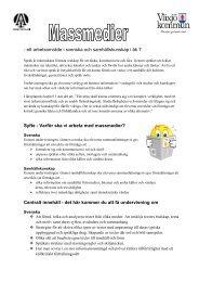 Pedagogisk planering - ibiblioteket