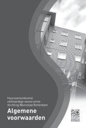 Algemene voorwaarden - Woonstad Rotterdam