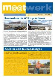 Reconstructie A12 op schema Alles-in-één faunapassages - Haitsma