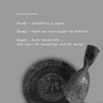 Duodji - hvem eier kunnskapen og verkene?