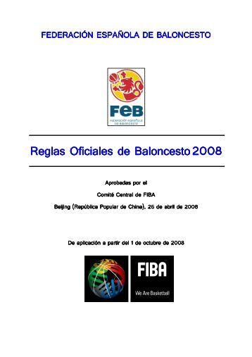 Reglas Oficiales de baloncesto 2008 - Club del Entrenador