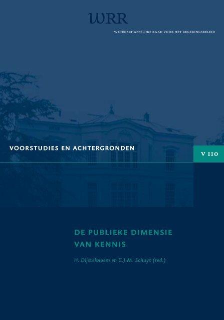 DE PUBLIEKE DIMENSIE VAN KENNIS - Oapen