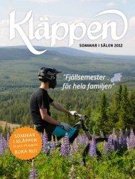 """Fjällsemester för hela familjen"""" SOMMAR I SÄLEN 2012 - Kläppen"""