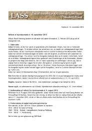 Vojens d. 14. november 2012 Referat af styrelsesmøde d. 18 ... - LASS