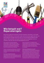 Wie betaalt wat? Reparatieregels - Woonstad Rotterdam