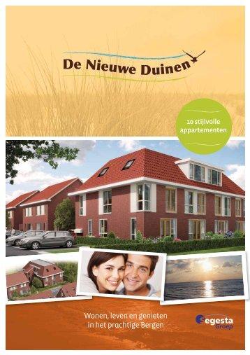 Brochure - Appartementen - De Nieuwe Duinen