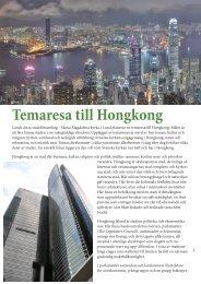 Temaresa till Hongkong - Martagon